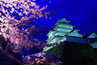 鶴ヶ城ライトアップ2